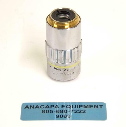 Used Mitutoyo 378-803-2 M Plan Apo 10 x 0.28 Microscope Objective USED (9000) R