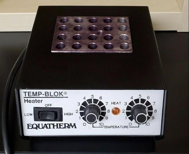 Used Equatherm Temp-Blok 137-445 Heat Block Heater Incubator