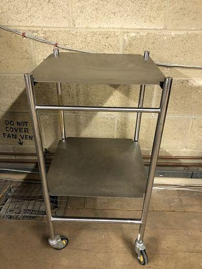 Used Trolley Stainless Steel 450 x450mm 2 Shelves Bristol Maid
