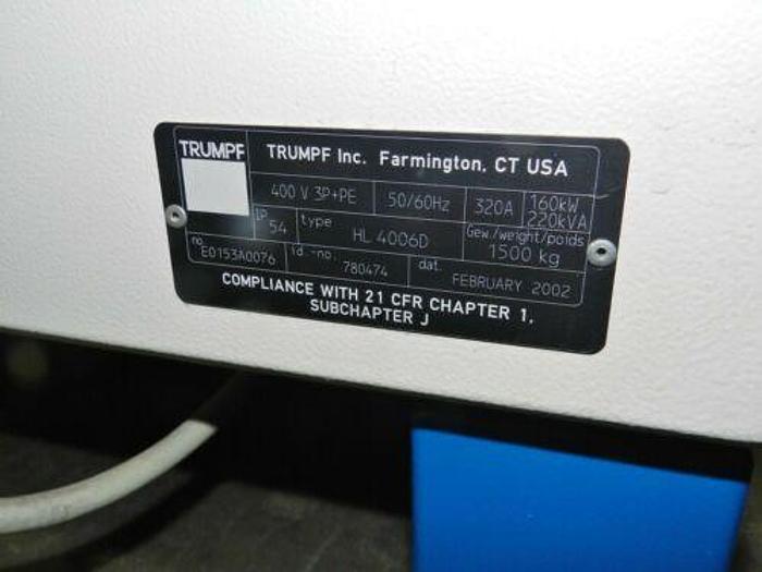 2002 Trumpf HL 4006D