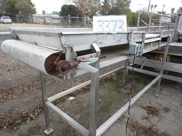 32'' Wide x 10' Long Rubber Belt Conveyor #3373