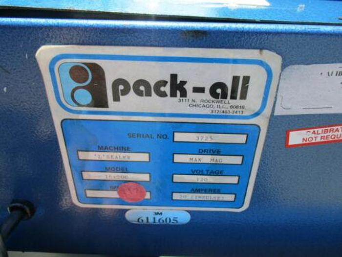 """PACK-ALL 12"""" X 16"""" X 24"""" HEAT SHRINK TUNNEL WITH 16"""" X 20"""" """"L"""" SEALER COMBO"""