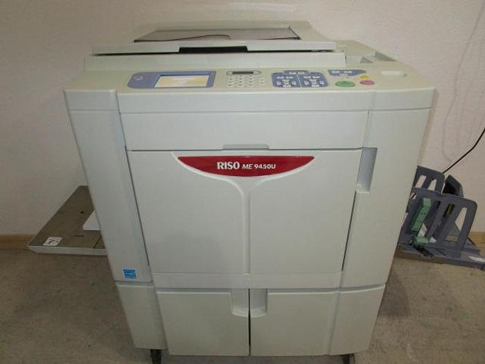 Used Riso RZ1090 2-Color/1-Pass Digital Duplicator with Network Print and Stand