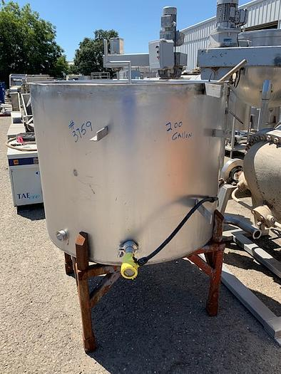 Used 200 Gallon Vertical Stainless Steel Tank