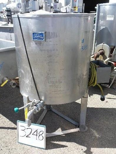 Used PTI 90 Gallon Vertical Stainless Steel Tank #3248