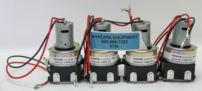 Rotalink SP3540, E04504 Hose Pump 12V, 640:1 9-30VDC 4214, Lot of 4 New (8798)W