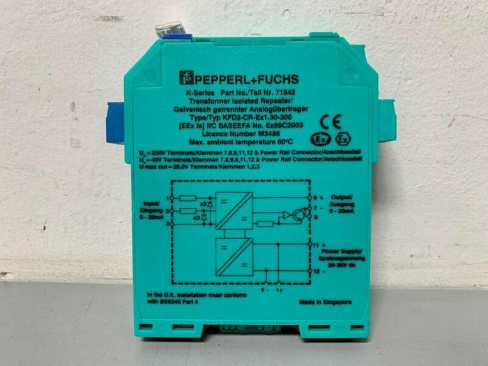 Used Pepperl+Fuchs KFD2-CR-Ex1.30-300 K-Series Transformer Isolated Repeater