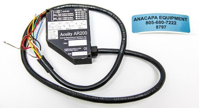Used Acuity AR200-50 Laser Measurement Sensor (8797)W