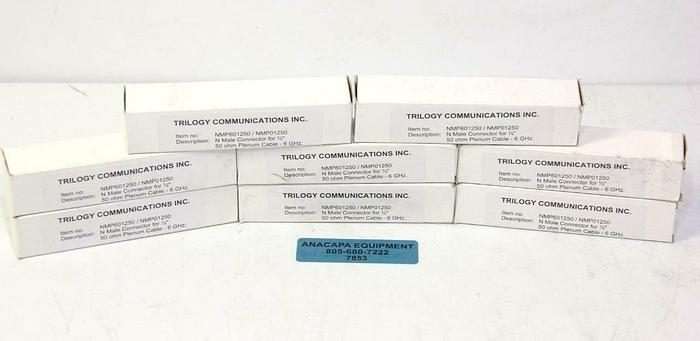 """Trilogy Communications NMP01250 N Male Connector for 1/2"""" NEW LOT OF 8 (7853)R"""