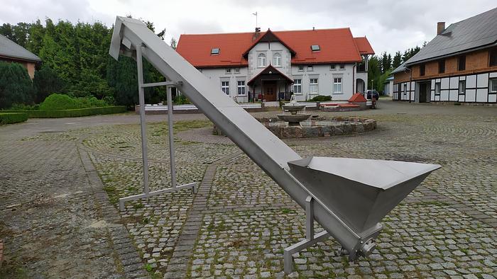 Used Przenośnik (transporter) ślimakowy w korycie zamkniętym - nierdzewny