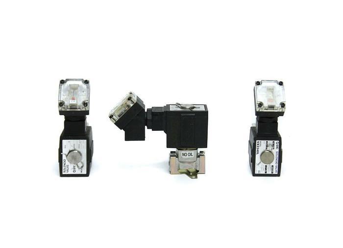 Used SMC VX2340L and VX2330L Solenoid Valve PT 1/4 Lot of 3 (5101)