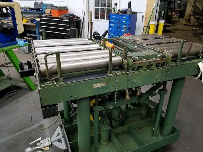Used 4000 Lb. Hydraulic Rolling Lift Table Electric Up & Down Tool Die Set Up LEXCO