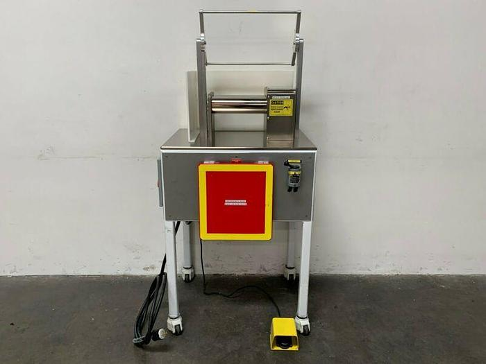 Used Stainless Steel Two Roll Lab Mill w/ 1 HP Motor on Rolling Cart 208-460V