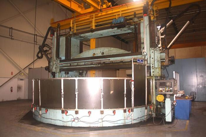 "240"" Betts CNC Vertical Boring Mill, 149"" H/UR, 45 RPM, 50 ton capacity, Fanuc 18TT, Rebuilt, 96, I..."