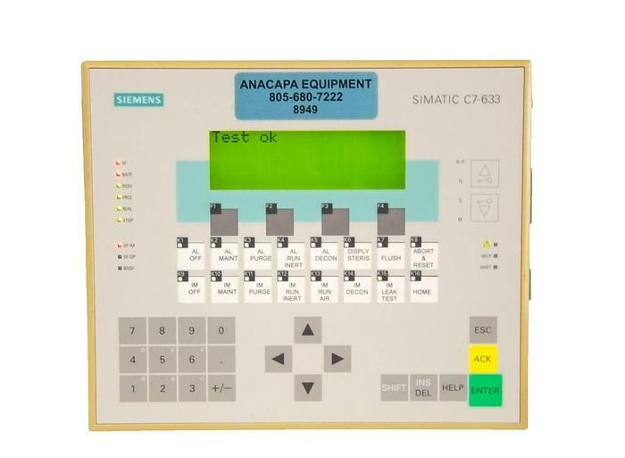Used Siemens Simatic C7-633 6ES7633-1DF02-0AE3 Control System PLC USED (8949)R