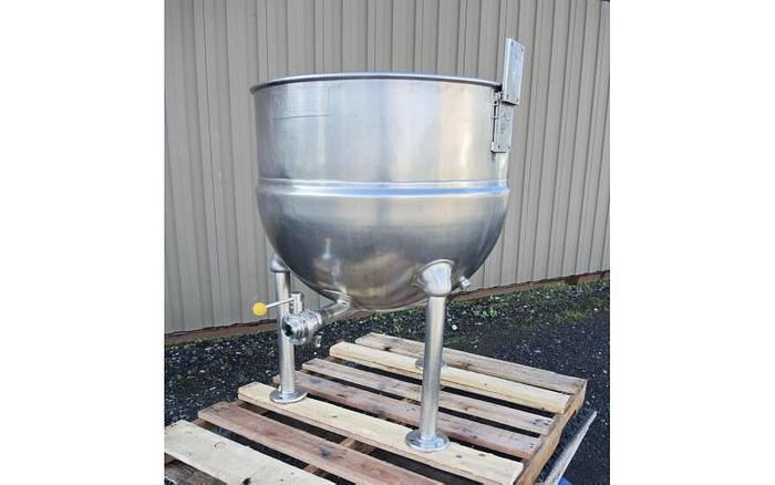USED 60 GALLON JACKETED KETTLE, STAINLESS STEEL