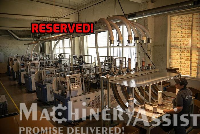 Used RESERVED! Paper Cup machines 6 psc. ZBJ-NZZ Ruian Lifeng Machinery Co.