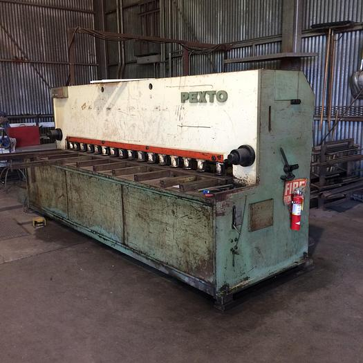 "Used 1970                 Pexto Hydraulic Shear - 3/16"" x 10ft Capacity Mild Steel"