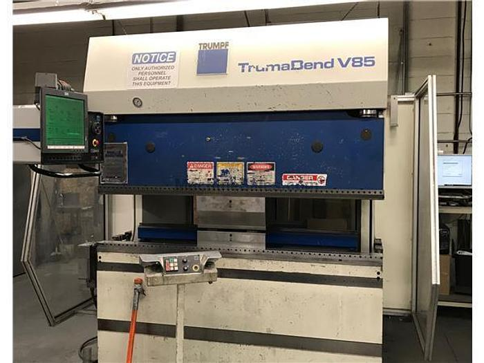 1996 95 Ton Trumpf TrumaBend V85 CNC Press Brake