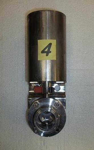 """Used 1 1/2"""" Air Actuated Stainless Steel Butterfly Valve - Stainless Fittings Equipment"""