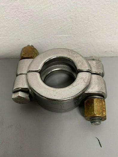 """Used Stainless Steel 1 1/2"""" OD Bolted High Pressure Clamp"""