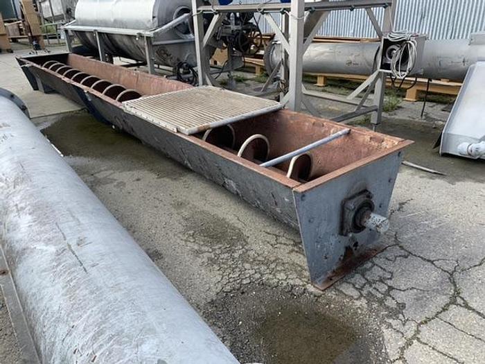 """Mild Steel Auger Screw 24.5' Long x 20"""" Diameter Conveyor"""