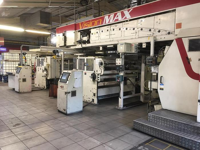 "Used 40"" (1.0M) PCMC VISION MAX 8 COLOR FLEXOGRAPHIC CI PRINTING PRESS"