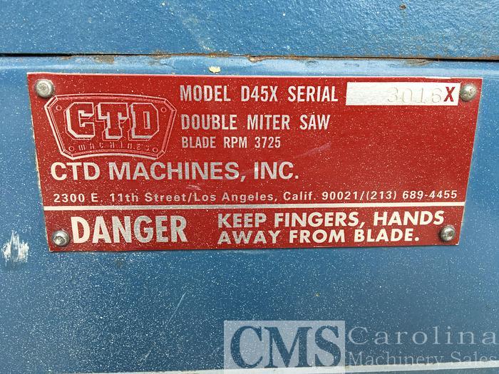 CTD N90 Double Miter Saw