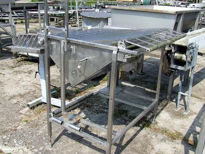 Używane Przenośnik siatkowy z wanną (konstrukcja panierownicy mokrej) - nierdzewny