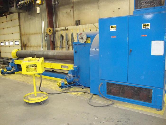"Used 1975 Bertsch 3 Roll Initial Pinch Roll, 5/8"" X 144"" Capacity, 14"" Roll Diameter, 20 hp"