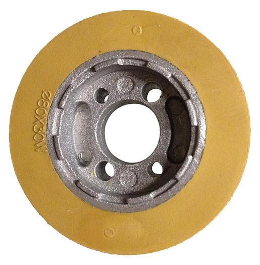 "Rubber Power Feeder Roller/Wheel 80mm x 30mm 3-1/8"""