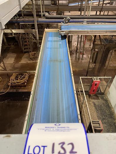 Used Stainless Steel Conveyor Belt 5.5m L 1m W