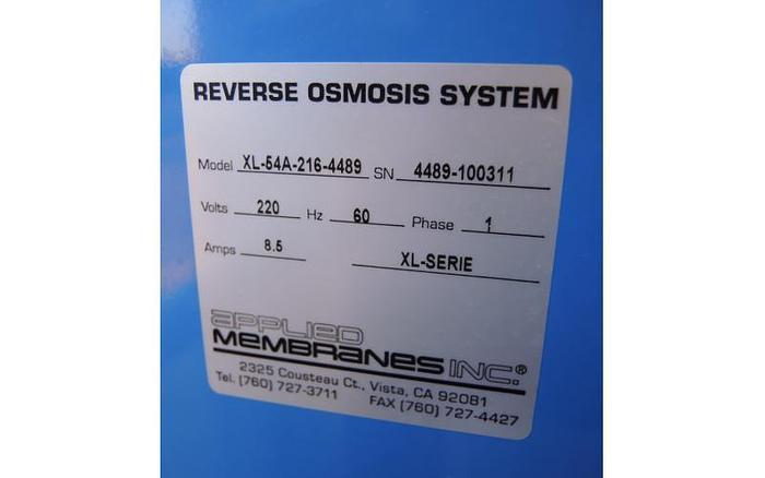 USED REVERSE OSMOSIS UNIT, 9000 USG PER DAY