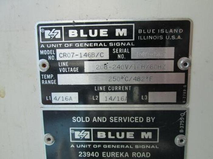BLUE ME MODEL CRO7 146B/C DRYING / LAB / BATCH OVEN 480 DEGREES