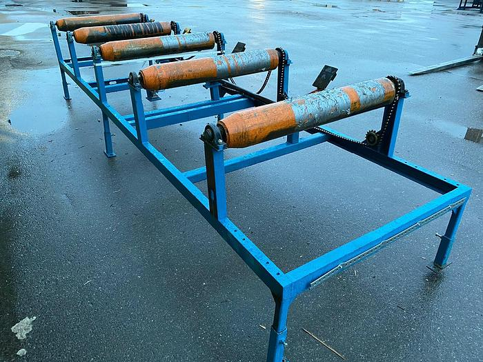Used Roller conveyor with side kickers