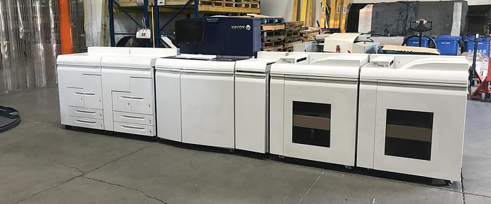 Xerox Nuvera 144 MX Production Printer w/ 2X- Infeeds & Stackers, MICR, 144 ipm