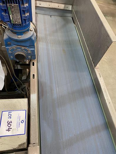 Used Stainless Steel Conveyor 2m L 0.5m W