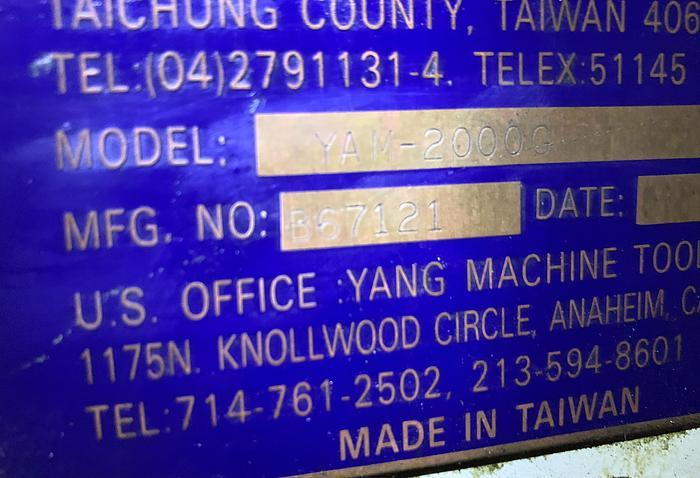 """YAM MODEL 2000G 17"""" X 80"""" ENGINE LATHE"""