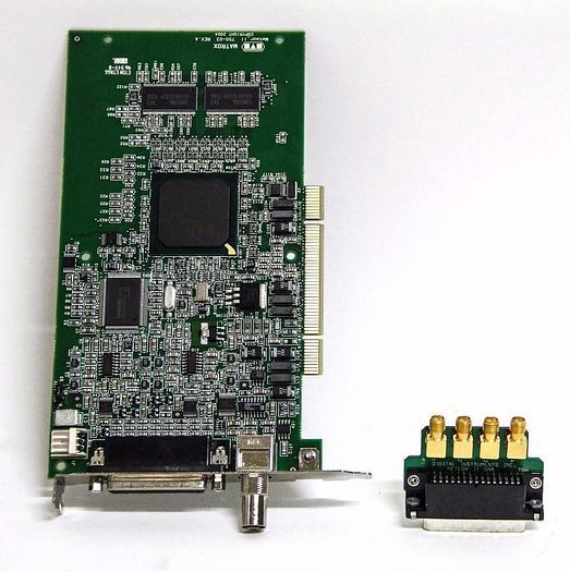 Used Matrox Meteor II 750-03 Meteor2/4 Frame Board 63039620278 & SMA I/O Adapter 5330