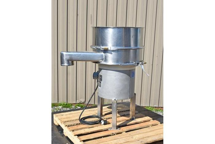 "USED SWECO SCREEN, 24"" DIAMETER, STAINLESS STEEL, SINGLE DECK"