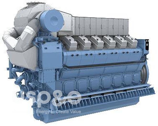 7 MW 2020 New Rolls Royce B32:40V16 HFO Generator