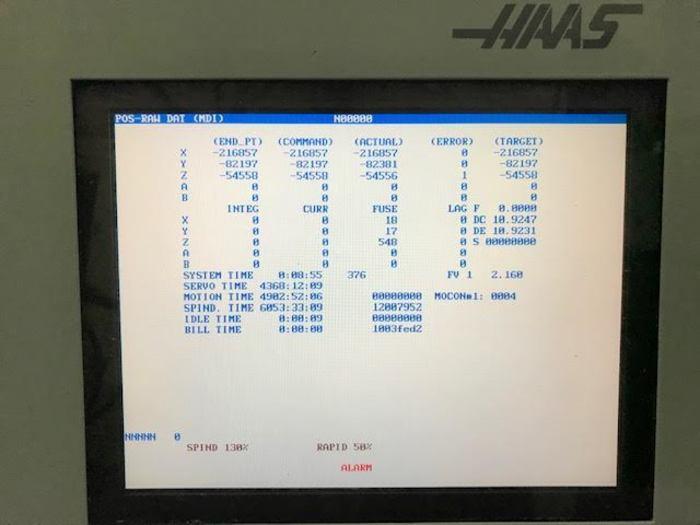 HAAS VF-2D Vertical 3-Axis CNC Machining Center 2004