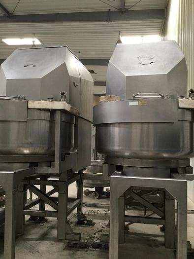 Used (2) Diosna Double Spiral Mixers