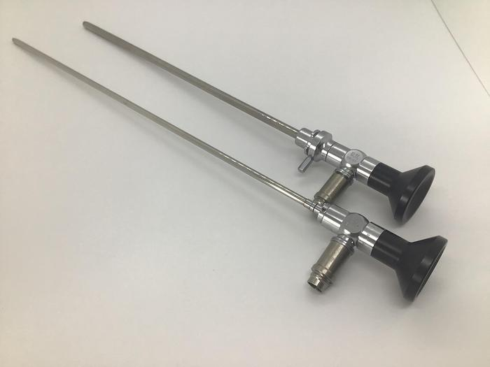 Used Trans Urethral Resection Set of 2 Rigid Scopes in Case GU