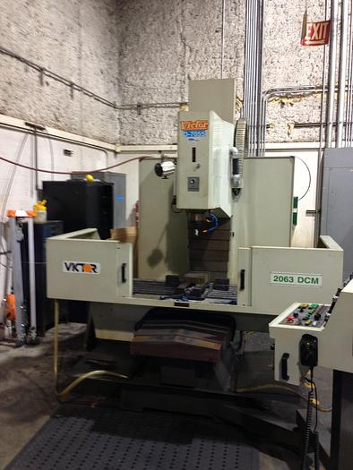 "Used 50"" x 25"" VICTOR CNC VERTICAL MACHINING CENTER"