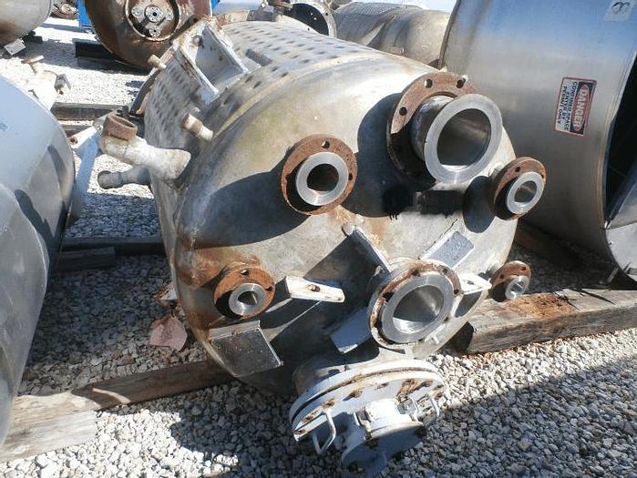 Used 350 GALLON REACTOR – T-316 S/S – 75 PSI/FV INTERNAL/150 PSI JACKET