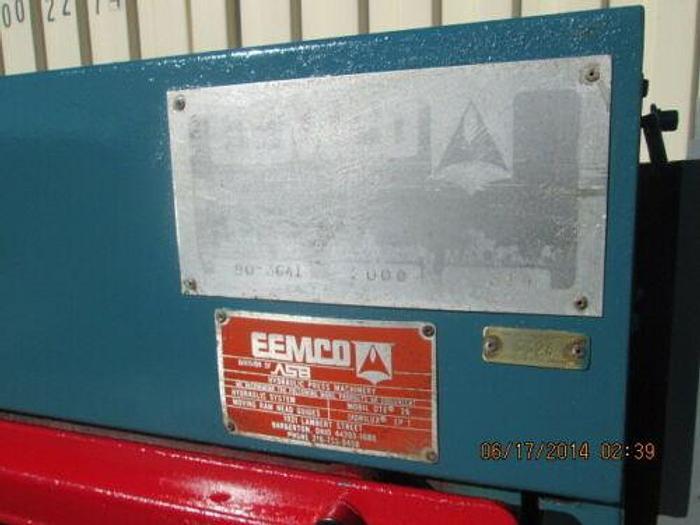 "EEMCO 24"" X 32"" SLAB SIDE RUBBER PRESS 314 TONS 12"" STROKE HYDRAULIC UNIT PLC"
