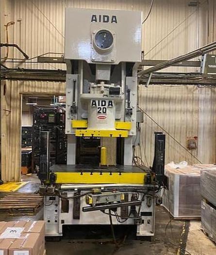 Used 220 ton AIDA Gap Frame Mechanical Press
