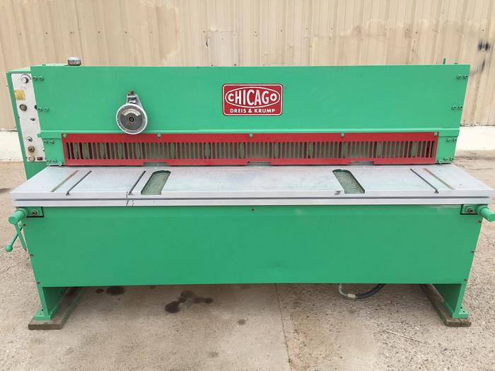 6 ft x 10 Ga. Chicago / D & K Hyd. Shear