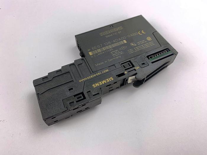 Used SIEMENS 6ES7 138-4DA01-0AB0 Electronics Module with Terminal (6ES7 193-4CB20-0AA0)